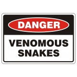 Danger Venomous Snakes Sticker Large (3)