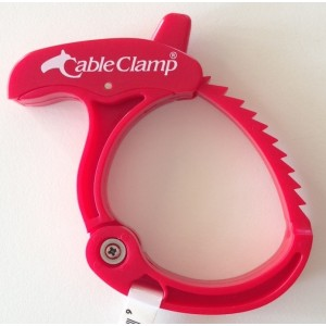 Three Medium Cable Clamps - Red (3)